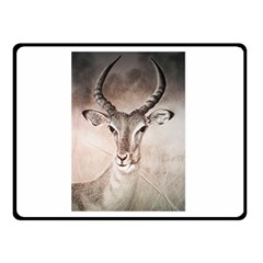Antelope Horns Double Sided Fleece Blanket (small)  by TwoFriendsGallery