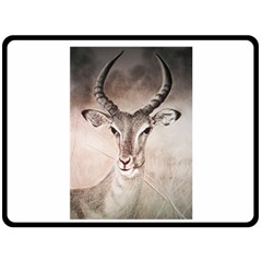 Antelope Horns Double Sided Fleece Blanket (large)  by TwoFriendsGallery