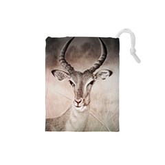 Antelope Horns Drawstring Pouches (small)  by TwoFriendsGallery
