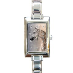 Grey Arabian Horse Rectangle Italian Charm Watches by TwoFriendsGallery