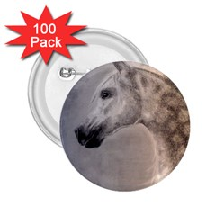 Grey Arabian Horse 2 25  Buttons (100 Pack)