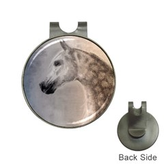 Grey Arabian Horse Hat Clips With Golf Markers