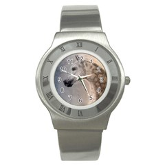 Grey Arabian Horse Stainless Steel Watches by TwoFriendsGallery