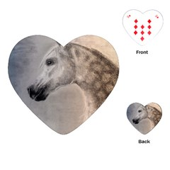 Grey Arabian Horse Playing Cards (heart)  by TwoFriendsGallery