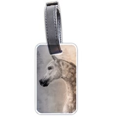 Grey Arabian Horse Luggage Tags (one Side)