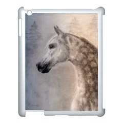 Grey Arabian Horse Apple Ipad 3/4 Case (white)