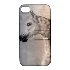 Grey Arabian Horse Apple Iphone 4/4s Hardshell Case With Stand by TwoFriendsGallery
