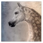Grey Arabian Horse Large Satin Scarf (Square) Front