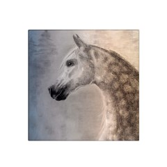 Grey Arabian Horse Satin Bandana Scarf by TwoFriendsGallery