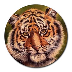 Tiger Cub Round Mousepads by ArtByThree