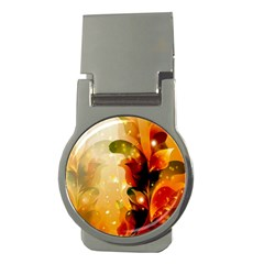 Awesome Colorful, Glowing Leaves  Money Clips (round)  by FantasyWorld7