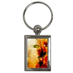 Awesome Colorful, Glowing Leaves  Key Chains (rectangle)  by FantasyWorld7