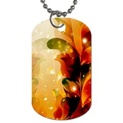 Awesome Colorful, Glowing Leaves  Dog Tag (one Side) by FantasyWorld7