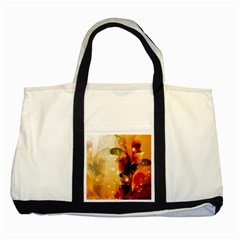 Awesome Colorful, Glowing Leaves  Two Tone Tote Bag  by FantasyWorld7