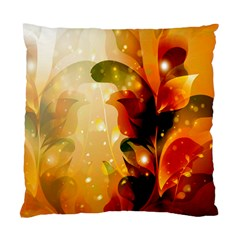 Awesome Colorful, Glowing Leaves  Standard Cushion Cases (two Sides)  by FantasyWorld7