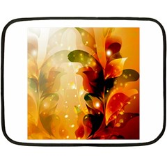Awesome Colorful, Glowing Leaves  Double Sided Fleece Blanket (mini)