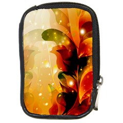 Awesome Colorful, Glowing Leaves  Compact Camera Cases by FantasyWorld7
