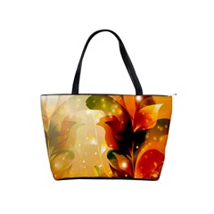Awesome Colorful, Glowing Leaves  Shoulder Handbags by FantasyWorld7