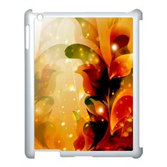 Awesome Colorful, Glowing Leaves  Apple Ipad 3/4 Case (white) by FantasyWorld7