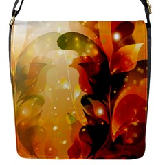 Awesome Colorful, Glowing Leaves  Flap Messenger Bag (s) by FantasyWorld7