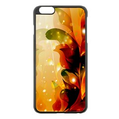 Awesome Colorful, Glowing Leaves  Apple Iphone 6 Plus/6s Plus Black Enamel Case by FantasyWorld7