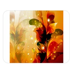 Awesome Colorful, Glowing Leaves  Double Sided Flano Blanket (large)