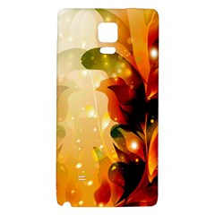 Awesome Colorful, Glowing Leaves  Galaxy Note 4 Back Case by FantasyWorld7