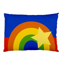 Rainbow Pillow Case (two Sides) by Ellador