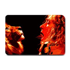 Robert And The Lion Small Doormat  by SaraThePixelPixie