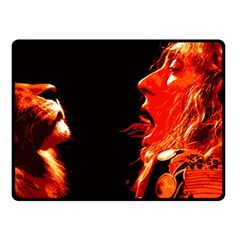 Robert And The Lion Double Sided Fleece Blanket (small)  by SaraThePixelPixie