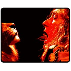 Robert And The Lion Double Sided Fleece Blanket (medium)  by SaraThePixelPixie