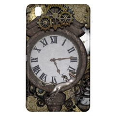 Steampunk, Awesome Clocks With Gears, Can You See The Cute Gescko Samsung Galaxy Tab Pro 8 4 Hardshell Case