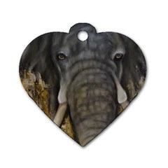 In The Mist Dog Tag Heart (one Side) by timelessartoncanvas