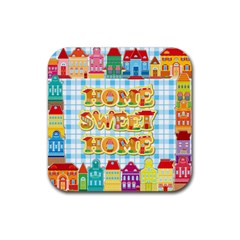 Home Sweet Home Drink Coaster (square) by typewriter