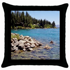 Nevada Lake Tahoe  Throw Pillow Cases (black) by TwoFriendsGallery