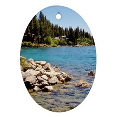 Nevada Lake Tahoe  Oval Ornament (two Sides) by TwoFriendsGallery