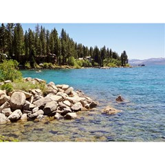 Nevada Lake Tahoe  Birthday Cake 3d Greeting Card (7x5)  by TwoFriendsGallery