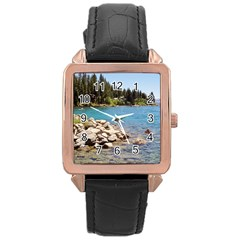 Nevada Lake Tahoe  Rose Gold Watches by TwoFriendsGallery