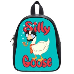 Silly Goose School Bag (small) by Ellador