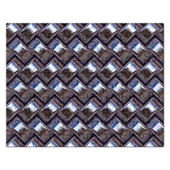 Metal Weave Blue Rectangular Jigsaw Puzzl by MoreColorsinLife