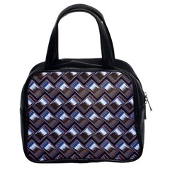Metal Weave Blue Classic Handbags (2 Sides) by MoreColorsinLife