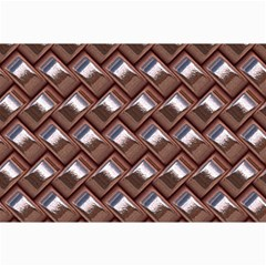 Metal Weave Pink Collage 12  X 18  by MoreColorsinLife