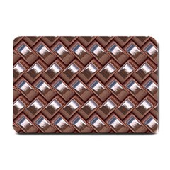 Metal Weave Pink Small Doormat  by MoreColorsinLife