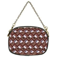 Metal Weave Pink Chain Purses (two Sides)  by MoreColorsinLife