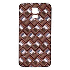 Metal Weave Pink Samsung Galaxy S5 Back Case (white) by MoreColorsinLife