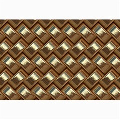 Metal Weave Golden Collage 12  X 18  by MoreColorsinLife