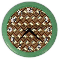 Metal Weave Golden Color Wall Clocks by MoreColorsinLife