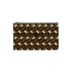 Metal Weave Golden Cosmetic Bag (small)  by MoreColorsinLife