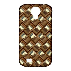 Metal Weave Golden Samsung Galaxy S4 Classic Hardshell Case (pc+silicone) by MoreColorsinLife