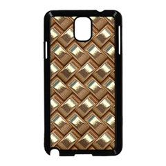 Metal Weave Golden Samsung Galaxy Note 3 Neo Hardshell Case (black) by MoreColorsinLife